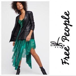 Free People Dark Fairy Velvet Lace Dress